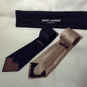 YSL - 2 silk ties